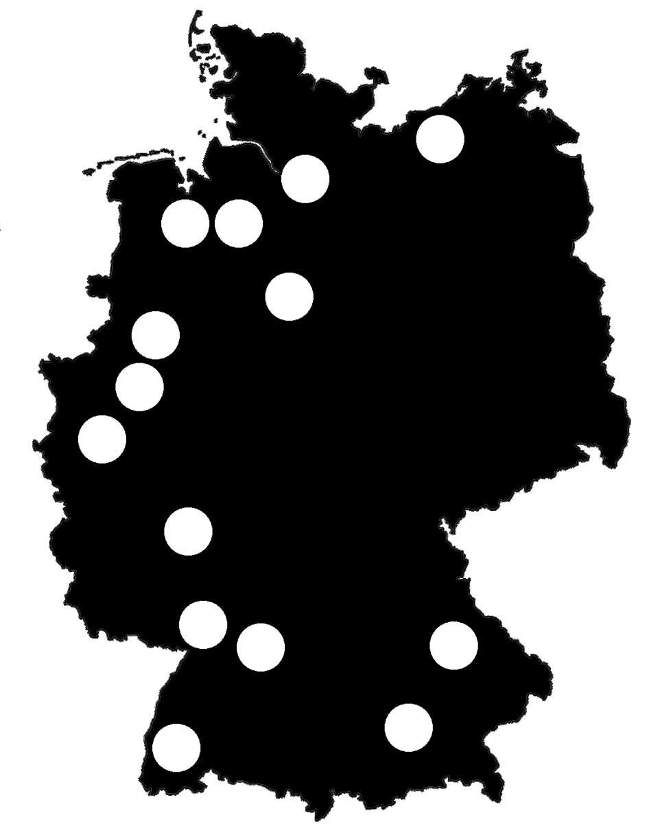 Queerscope, Deutschland-Karte mit allen Festivals